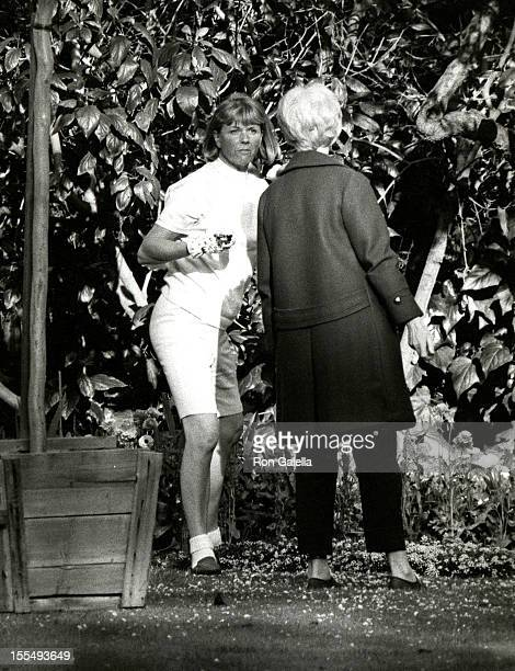 Doris Day and Guest during Doris Day and Husband Barry Comden File Photos at Beverly Hills Hotel in Beverly Hills California United States