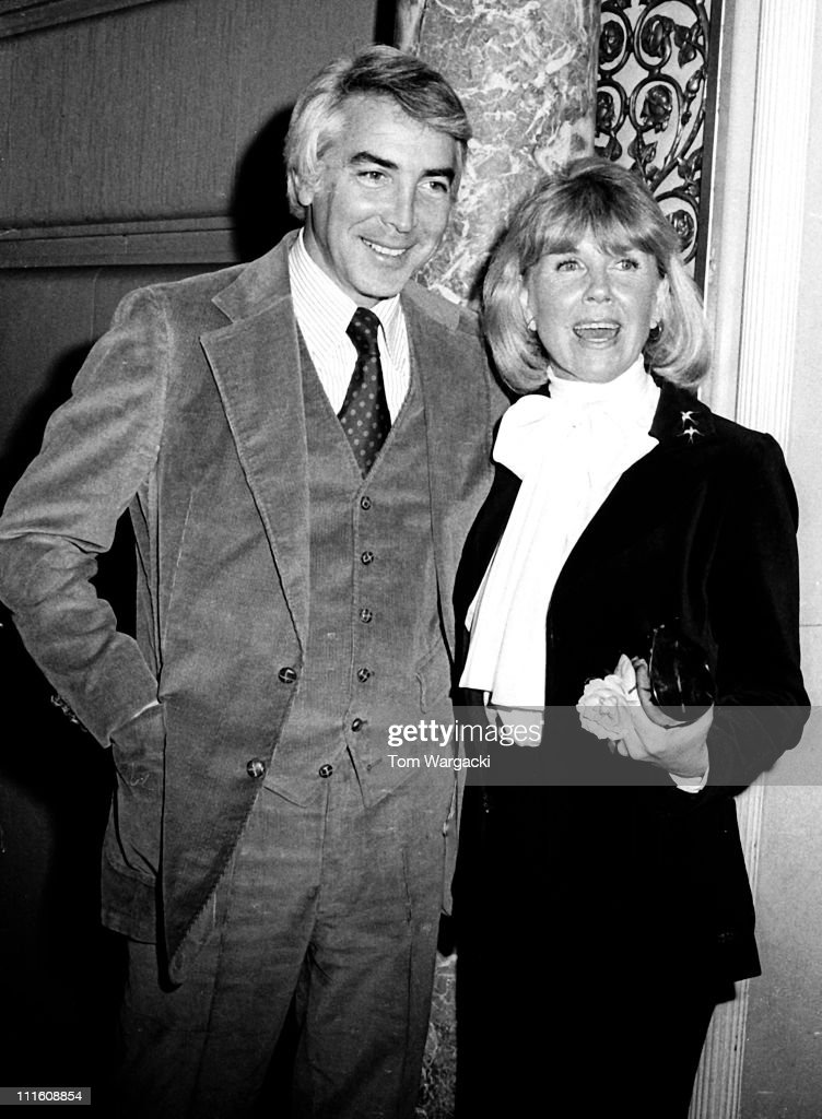 Doris Day and Barry Comden Sighting at the Pierre Hotel in New York City - February 1976 : News Photo