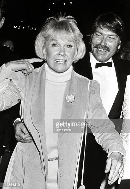 Doris Day and son Terry Melcher during 1st Golden Cypress Award James Stewart at Hyatt Regency Hotel in Monterey California United States