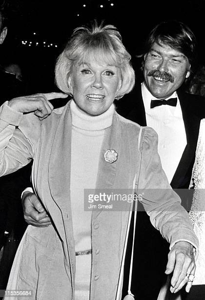 Doris Day and Terry Melcher during First Annual Golden Cypress Awards at Hyatt Regency Hotel in Monterey California United States