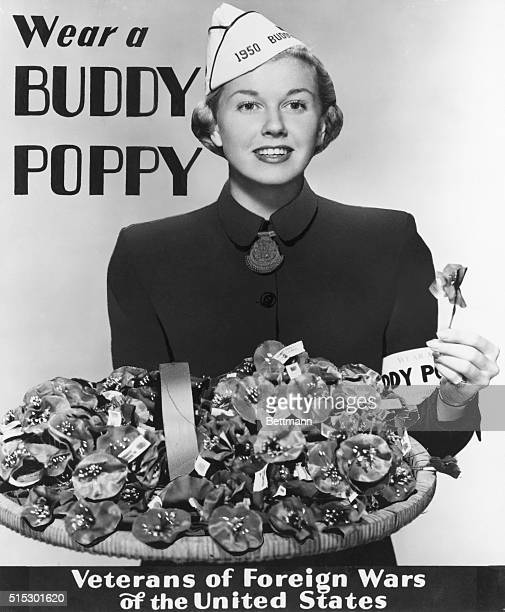 Doris Day, nationally famous Warner Brothers motion picture, & favorite recording radio star, selected by the Veterans of Foreign wars as their 1950...