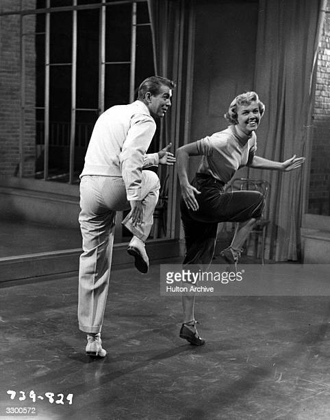 Doris Day stars with Gene Nelson in a scene from the film 'Tea For Two' directed by David Butler for Warner