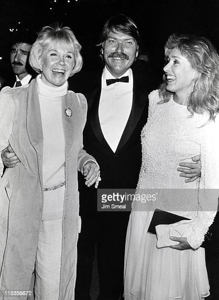 Doris Day , Terry Melcher and wife during First Annual Golden Cypress Awards at Hyatt Regency Hotel in Monterey, California, United States.