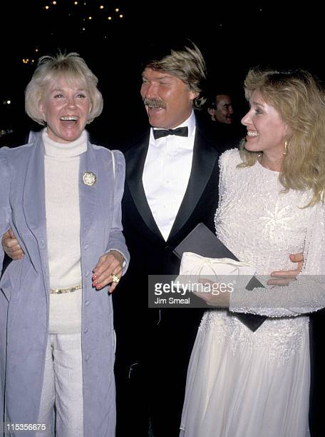 Doris Day Terry Melcher and wife during First Annual Golden Cypress Awards at Hyatt Regency Hotel in Monterey California United States