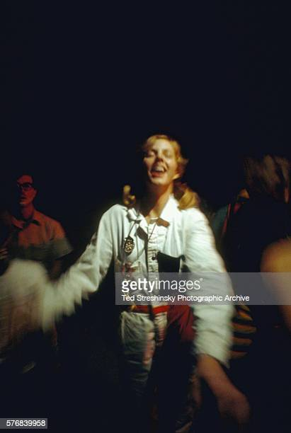 Doris Delay dances at the Acid Test Graduation a celebration organized by Ken Kesey and his Merry Pranksters in which participants graduated beyond...