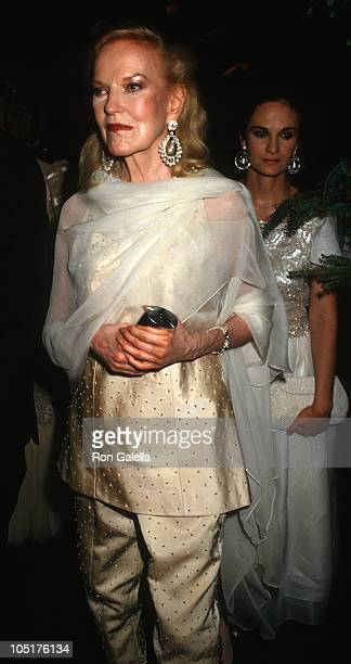 Doris Duke and guest during Forbes Magazine's 70th Anniversary Celebration at Timberland Estate in Far Hills New Jersey United States
