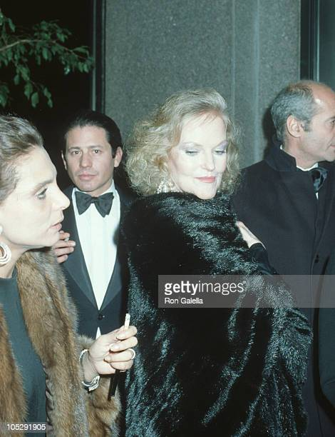 Doris Duke and guests during Steve Rubell's Birthday Party Hosted by Halston at Olympic Towers in New York City New York United States