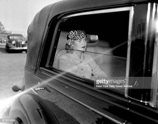 Doris Duke Cromwell in her car
