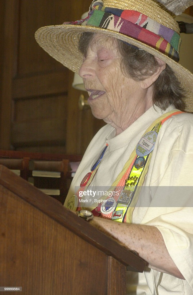Doris Haddock, better known as 'Granny D,' spoke in Robert Ney's (R-Ohio) officein the Longworth building on Wednesday afternoon. Haddock was reading a list of 'double givers' of 'soft money,' by industry. The list and tables were 99 pages long.