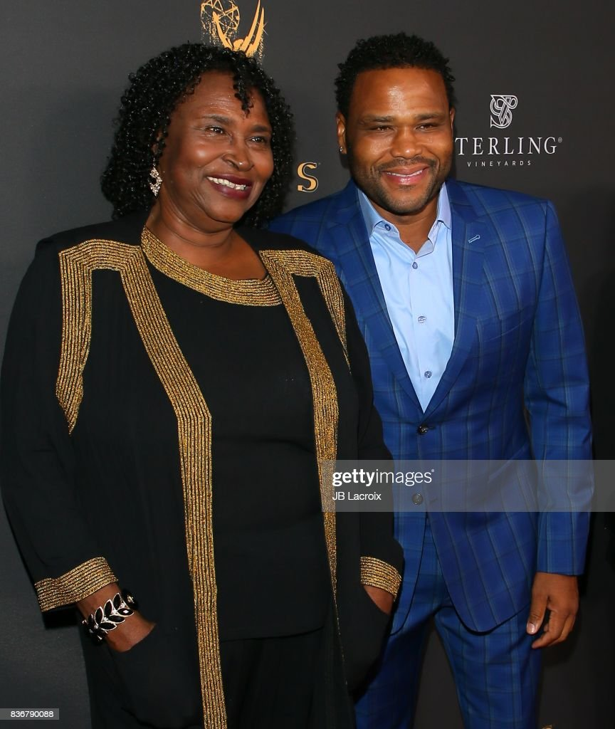Doris Hancox and Anthony Anderson attend the Television Academy's Performers Peer Group Celebration on August 22, 2017 in Los Angeles, California.