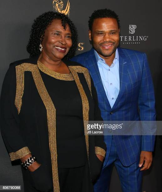 Doris Hancox and Anthony Anderson attend the Television Academy's Performers Peer Group Celebration on August 22 2017 in Los Angeles California