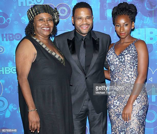 Doris Hancox Anthony Anderson and Kyra Anderson arrive at HBO's Post Emmy Awards reception held at The Plaza at the Pacific Design Center on...