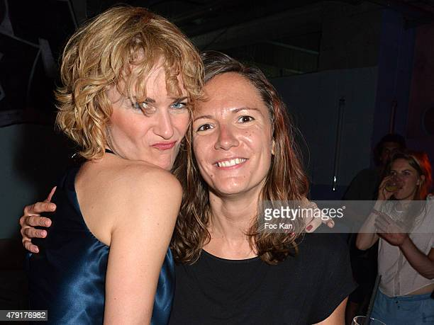 Doris Keller and DJ Ouida attend the 'Extra Cold' by Heineken Beer Launch Party at the Bar Le Grand Rivage on July 1 in Paris France