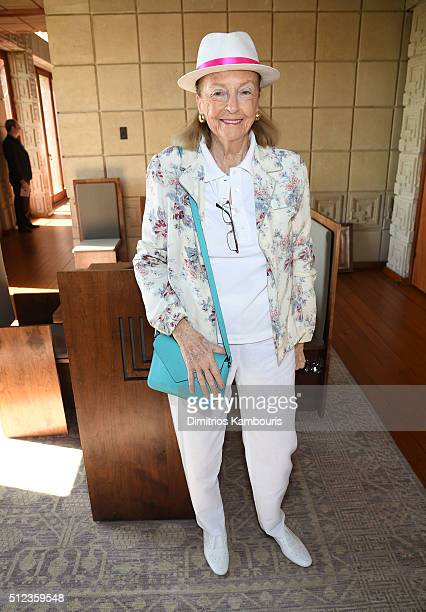 Doris Kleiner attends the MAC Cosmetics Zac Posen luncheon at the Ennis House hosted by Karen Buglisi Weiler Demi Moore Jacqui Getty on February 25...