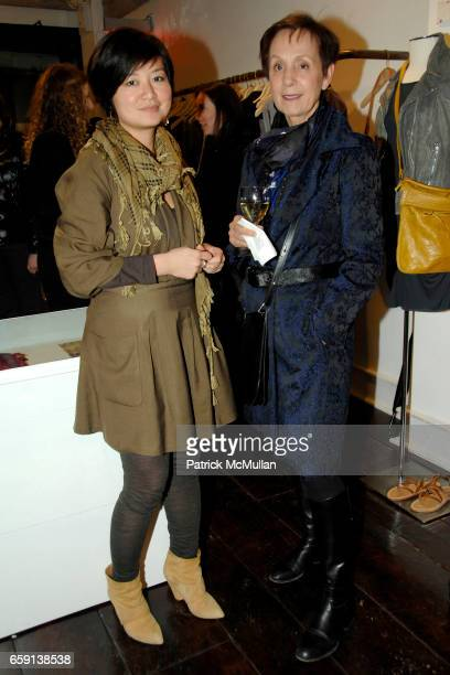 Doris Pang and Corry Barreveld attend JEROME DREYFUSS Fall/Winter 2009 Collection at LUDIVINE Uptown at Boutique Ludivine on February 19 2009 in New...