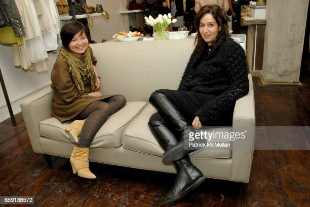 Doris Pang and Rachel Chicheportiche attend JEROME DREYFUSS Fall/Winter 2009 Collection at LUDIVINE Uptown at Boutique Ludivine on February 19 2009...