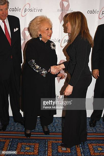 Doris Roberts and Linda Cohn attend Cable Positive and Cable TV BigWigs Avow Industry's Fight Against HIV/AIDS at Marriott Marquis on March 7 2006 in...