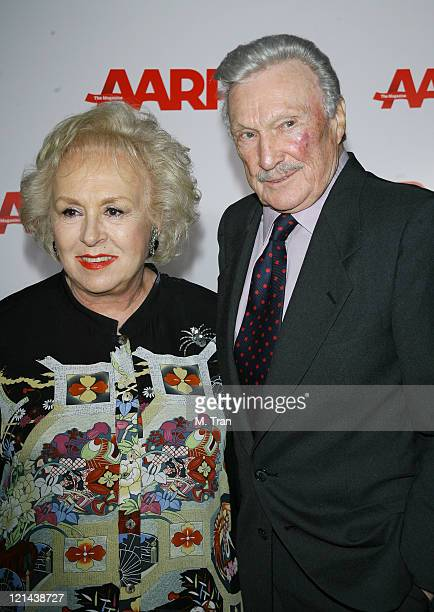 """Doris Roberts and Warren Stevens during AARP The Magazine Toasts 2007 """"Movies For Grownups Awards"""" Winners at Hotel Bel-Air in Los Angeles,..."""