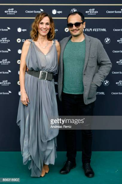 Doris Schretzmayer and Arman T Riahi attend the 'Die Migrantigen' photocall during the 13th Zurich Film Festival on October 1 2017 in Zurich...