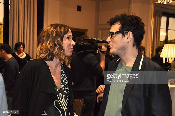 Doris Schretzmayer and Manuel Rubey attend the Romy Award 2015 press conference at Hotel Bristol on March 4 2015 in Vienna Austria