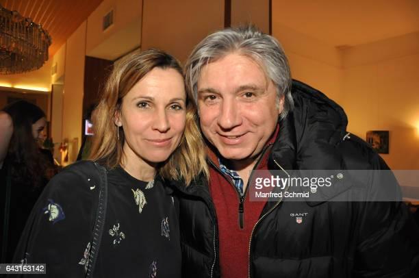 Doris Schretzmayer and Werner Boote attend the Vienna premiere of the film 'Wilde Maus' at Gartenbau Kino on February 16 2017 in Vienna Austria