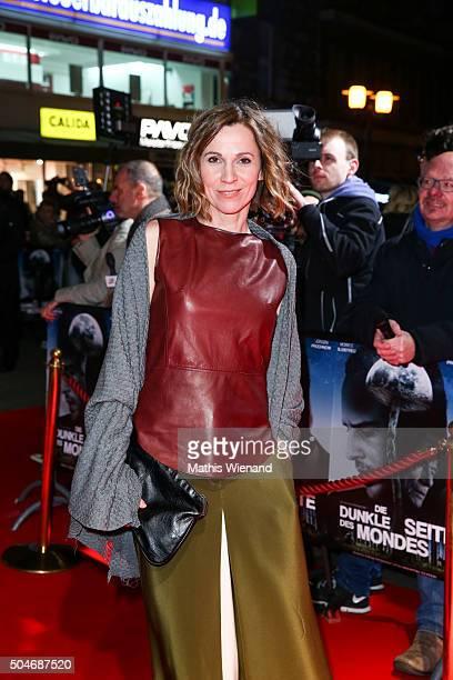Doris Schretzmayer attends the premiere for the film 'Die dunkle Seite des Mondes' at Lichtburg on January 12 2016 in Essen Germany