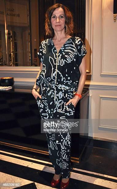 Doris Schretzmayer attends the Romy Award 2015 press conference at Hotel Bristol on March 4 2015 in Vienna Austria