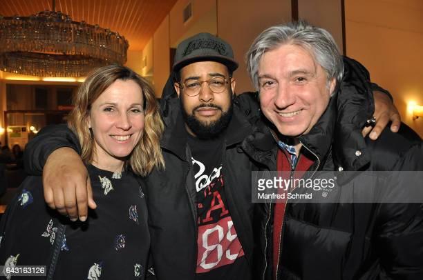 Doris Schretzmayer Mahir Jahmal and Werner Boote attend the Vienna premiere of the film 'Wilde Maus' at Gartenbau Kino on February 16 2017 in Vienna...