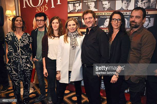 Doris Schretzmayer Manuel Rubey Miriam Stein Christa Kummer Johannes Zeiler Maria Koestlinger and Juergen Maurer attend the Romy Award 2015 Press...