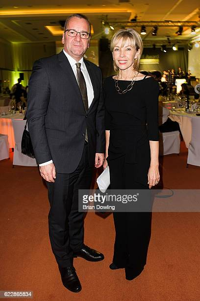 Doris SchroederKoepf and Boris Pistorius attend the TakeOff Award 2016 at the Holiday Inn Berlin Airport Conference Centre on November 12 2016 in...
