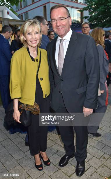 Doris SchroederKoepf and Boris Pistorius during the LV Lower Saxony Summer Party on June 25 2018 in Berlin Germany
