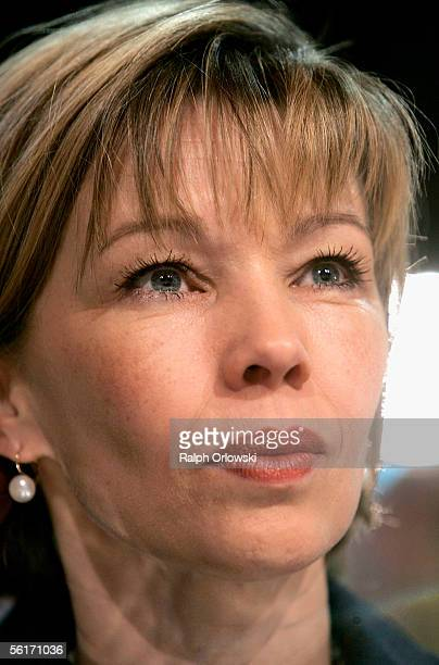 Doris SchroederKoepf the wife of German Chancellor Gerhard Schroeder attends a party congress of the Social Democraric Party at the Messehalle on...