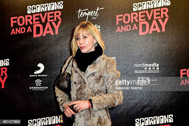 Doris SchroederKopef attends the premiere of the film 'Scorpions Forever and a Day' on March 24 2015 in Hanover Germany
