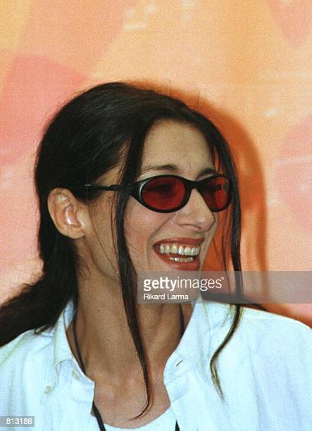 Doris singer representing Croatia for the Eurovision Song Contest 1999 meets the media at a press conference in Jerusalem Monday May 24 1999 Doris is...