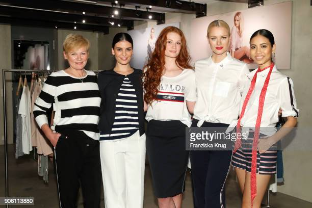 Doris Straetker Franziska Knuppe and her models presenting the April 2018 Sailor Heart collection during the presentation of her new Spring/Summer...