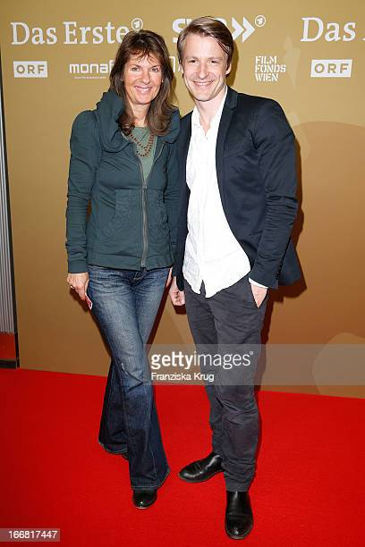 Doris Zander and Max von Pufendorf attend the 'Die Ausloeschung' Premiere at Astor Film Lounge on April 17 2013 in Berlin Germany
