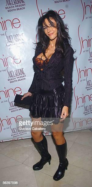 Dorismar poses at Sissi 's 2006 calendar presentation at Shine nightclub on December 8 2005 in Miami Beach Florida