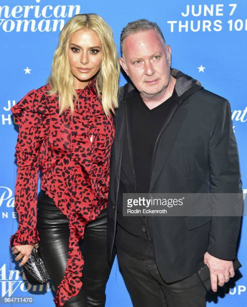 Dorit Kemsley and Paul Kemsley attend the premiere of Paramount Network's American Woman at Chateau Marmont on May 31 2018 in Los Angeles California