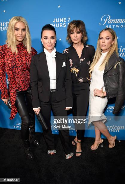Dorit Kemsley Kyle Richards Lisa Rinna and Teddi Mellencamp Arroyave attend the American Woman premiere party at Chateau Marmont on May 31 2018 in...