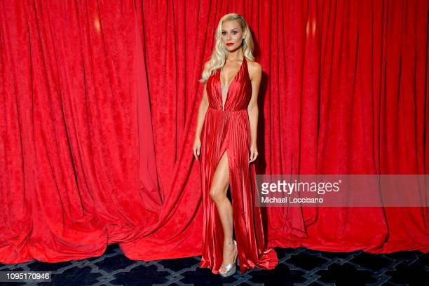 Dorit Kemsley poses backstage during The American Heart Association's Go Red for Women Red Dress Collection 2019 at Hammerstein Ballroom on February...