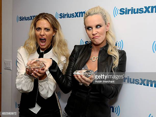 Dorit Kemsley visits 'The Jenny McCarthy Show' with host Jenny McCarthy at SiriusXM Studios on January 24 2017 in New York City