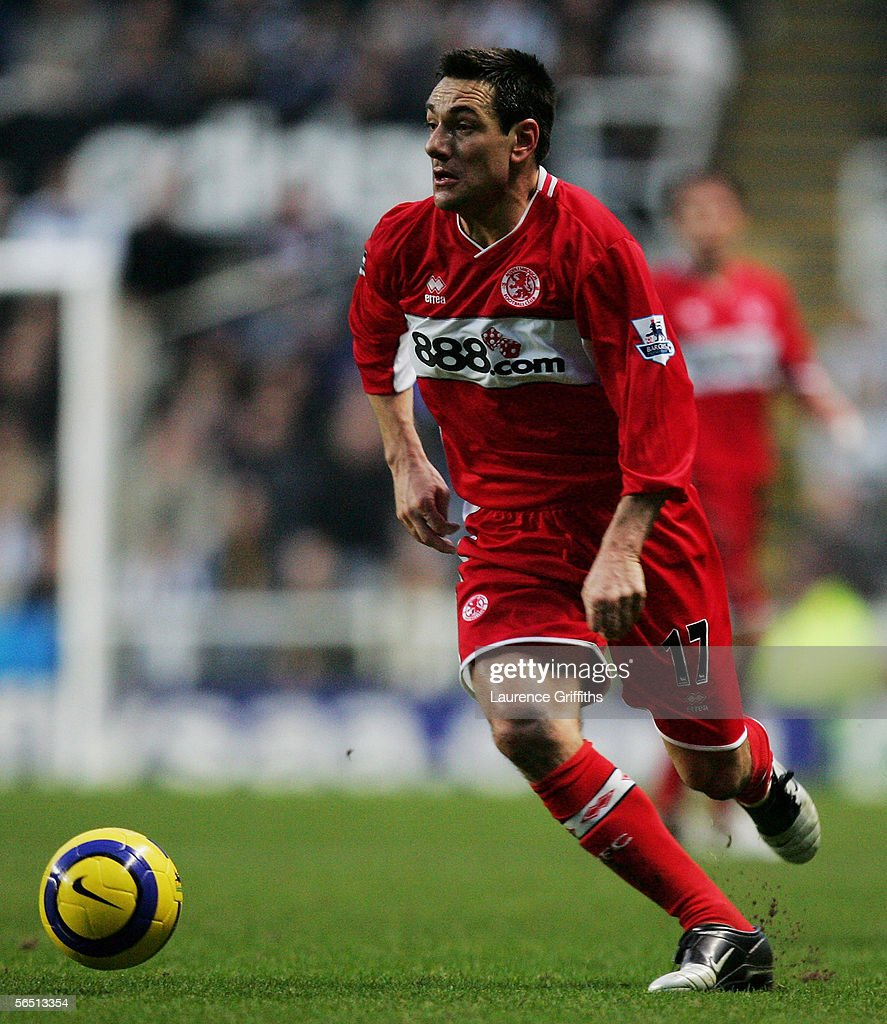 Doriva of Middlesbrough in action during the Barclays Premiership match between Newcastle United and Middlesbrough on January 2, 2006 at St James Park in Newcastle, England.
