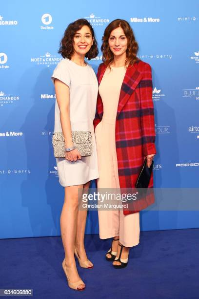 Dorka Gryllus and Ulrike Tscharre attend the Blue Hour Reception hosted by ARD during the 67th Berlinale International Film Festival Berlin on...