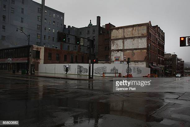Dormant buildings are seen downtown April 4 2009 in economically depressed Binghamton New York The gunman who subsequently killed himself has been...