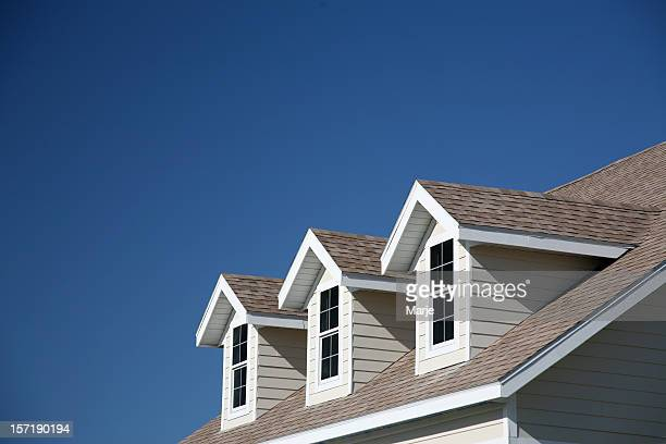 dormer windows - roof stock pictures, royalty-free photos & images