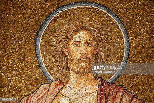 Dormition abbey. John the Baptist mosaic.