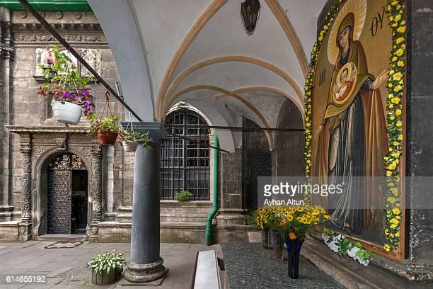 Dormition Church Courtyard in lviv,Ukraine