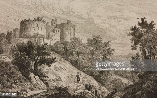Dorneck Castle Dornach Canton of Solothurn Switzerland engraving by Rouargue from Histoire et description de la Suisse et du Tyrol by Marie Philippe...