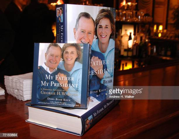 Doro Bush Koch's book 'My Father My President' sits on display on October 11 2006 in New York City