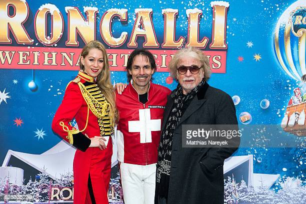 Doro Kipp Freddy Nock and Bernhard Paul attend the Roncalli Christmas Circus Photocall at Tempodrom on November 15 2016 in Berlin Germany